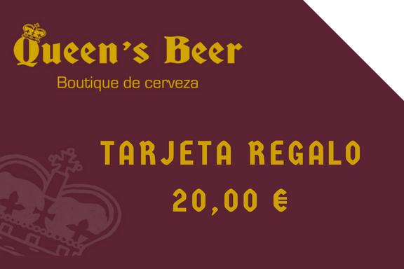 Tarjeta regalo Queen's Beer 20 euros